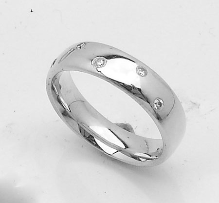 all polished genuine wedding band ring