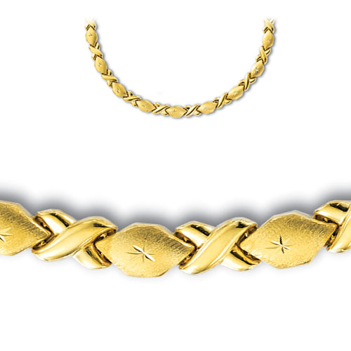 cut hugs and kisses stato chain necklace real