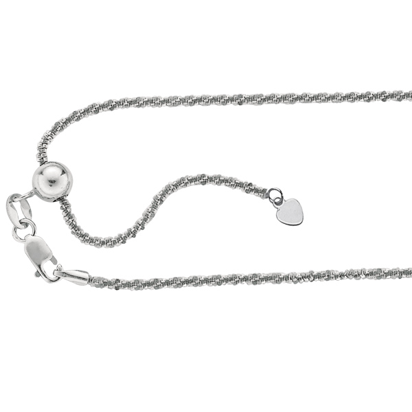 adjustable twisted rock sparkle chain necklace real