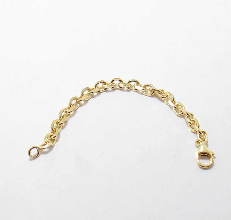 4mm heavy duty solid cable chain necklace extender real