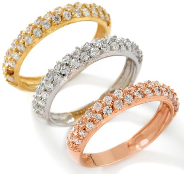 technibond cz accented band ring anti tarnish platinum