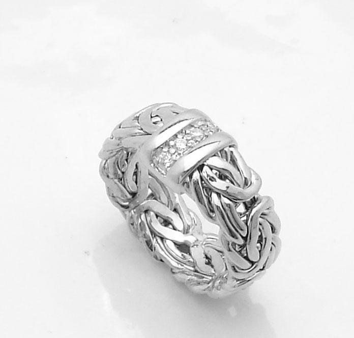 size 5 technibond byzantine cz band ring tarnish free