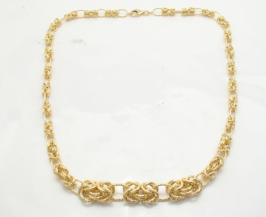 18 quot graduating cut byzantine chain necklace real