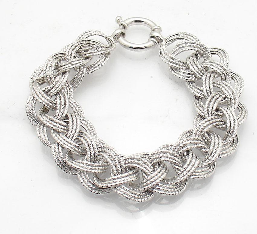 8 quot anti tarnish basket woven bracelet platinum clad