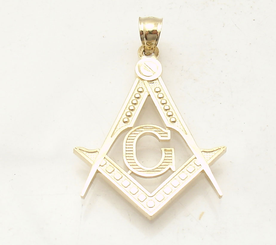 1 5 Quot Square And Compass Masonic Charm Pendant Real Solid