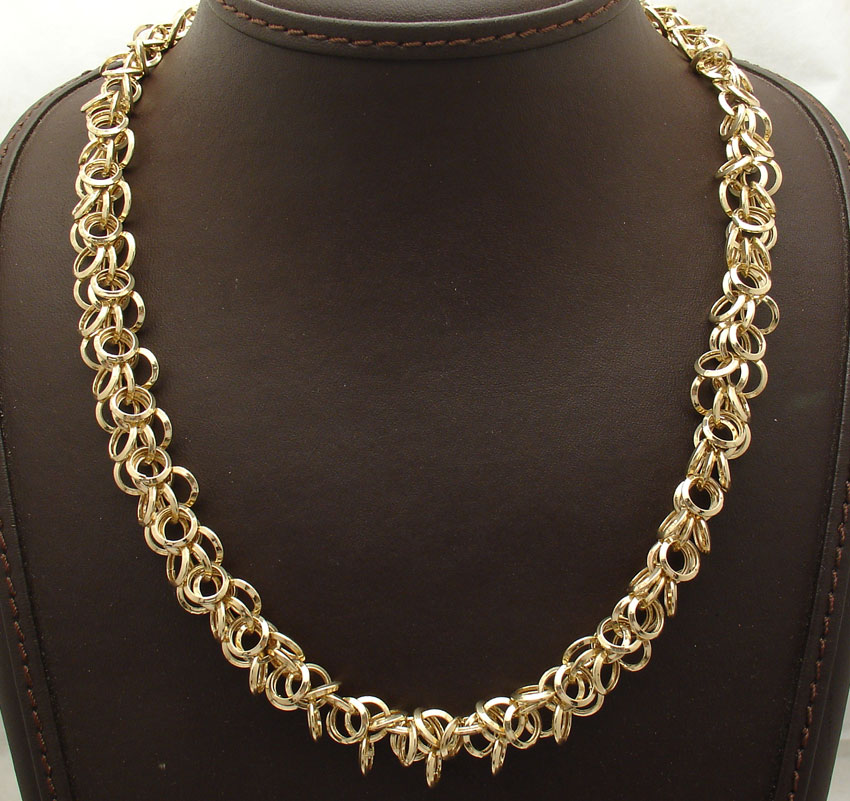 Qvc Multi Circle Rolo Charm Link Chain Necklace Real 14k