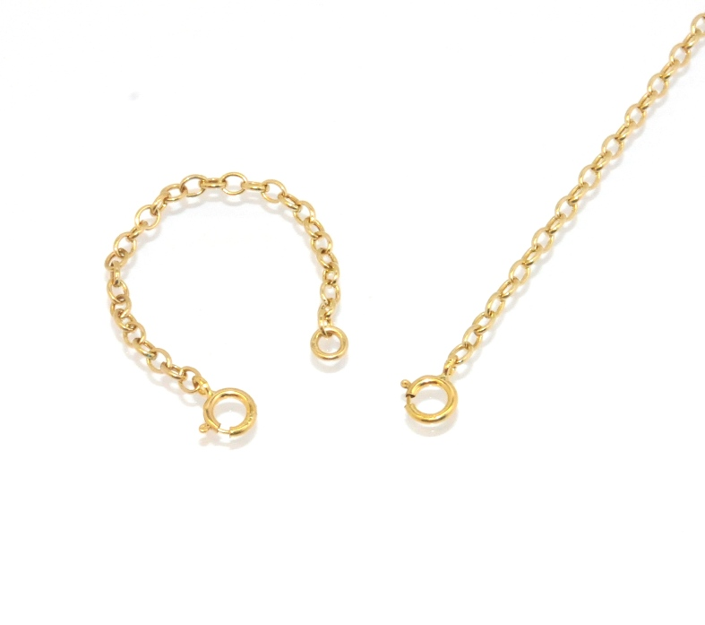oval cable chain necklace extender for pendant charm real