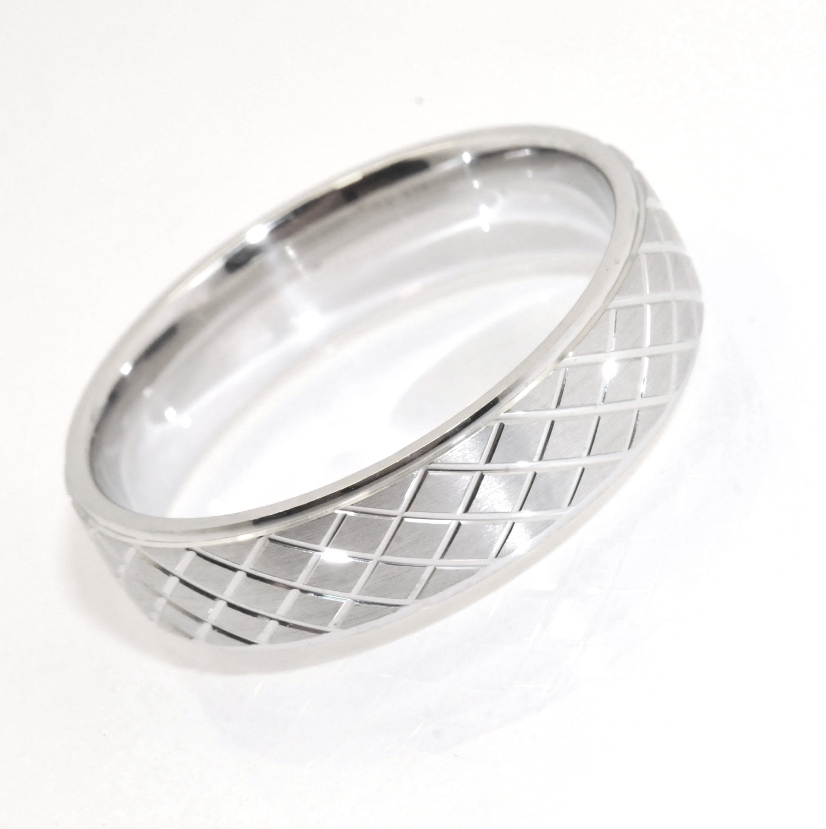 Sz 10 solid mens diamond cut wedding band ring anti for Anti wedding ring