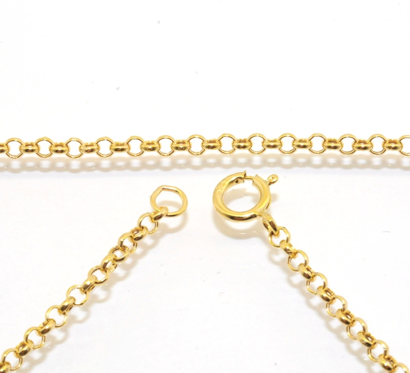 2mm cable rolo chain necklace extender real solid