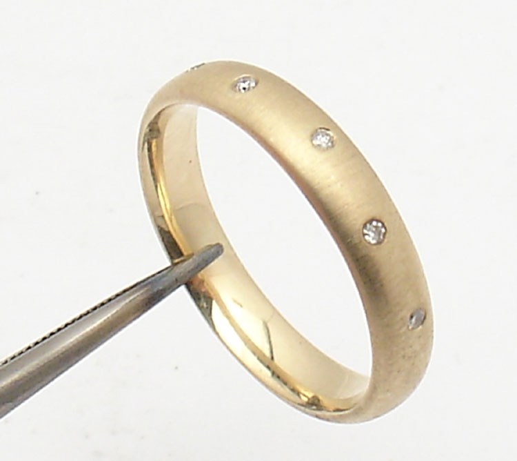 Polished Or Satin Finish Diamond Wedding Band Ring Real