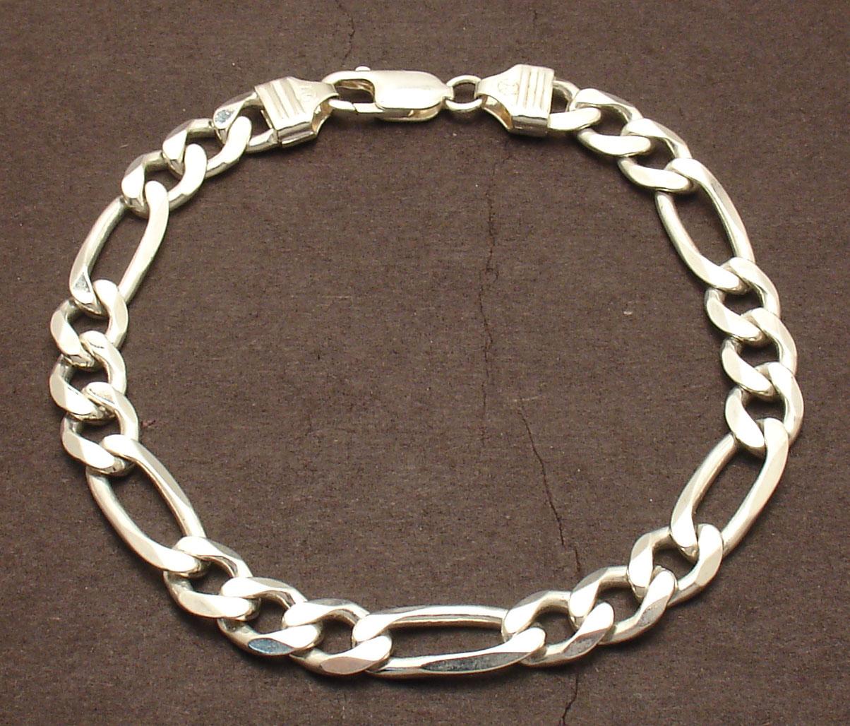 "8/"" Mens Solid Italian Franco Chain Bracelet Anti-Tarnish 925 Sterling Silver"