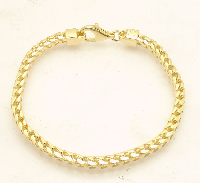 8.5/'/' Solid Miami Cuban Bracelet 14K Yellow Gold Clad Sterling Silver 925 25.3gr