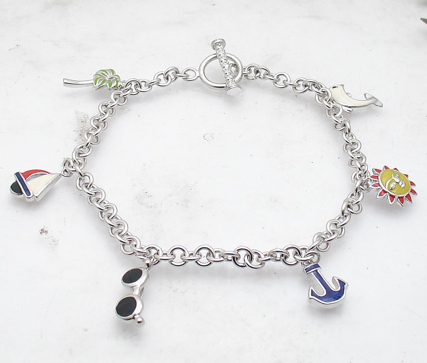Jewelry & Watches 100% True Stainless Steel Anklet Bracelet With Dangling Charms Of Hearts Fashion Jewelry