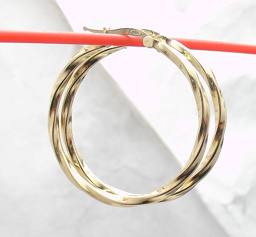 "2 3//8/"" Technibond Large Filigree Drop Hoop Earrings 14K Yellow Gold Clad Silver"