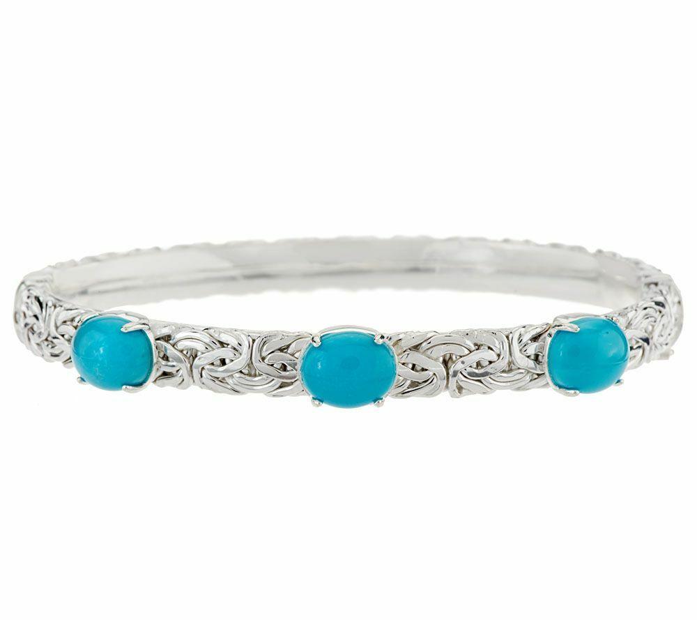 Turquoise Bangle Gemstone 925 Sterling Silver Sleeping Beauty Jewelry Bangle Silver Gemstone Bangle Four Style Turquoise Bracelet