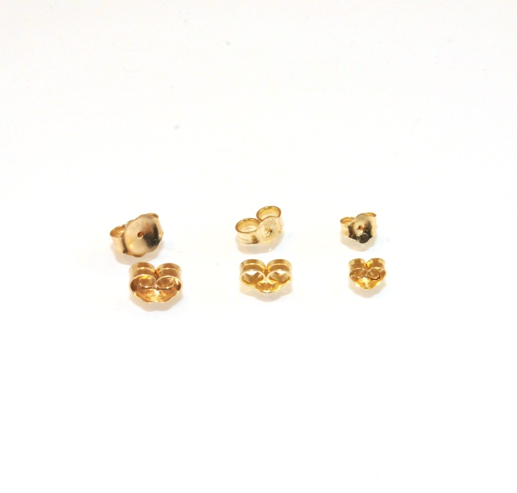 Solid 14k Real Yellow Gold Earrings